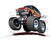 Векторный клипарт: Мультяшный Monster Truck