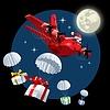 Cartoon Weihnachten Frachtflugzeug