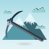 Spitzhacke Berg, Themen berg draußen emblem