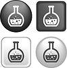 Reagenzglas Icon auf Knopf-Sammlung | Stock Vektrografik