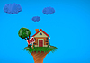 Cartoon funny Haus in der Sommersaison | Stock Illustration