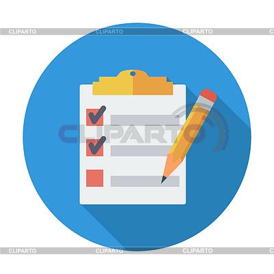 Schowek z piórem | Klipart wektorowy |ID 4676146