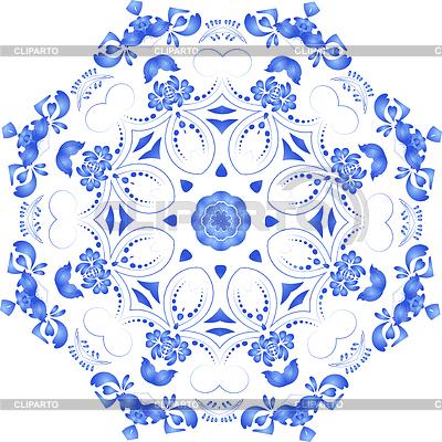 Фон с орнаментом голубой