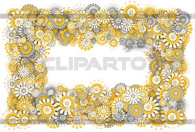 Ramki z kwiatów rumianku | Stockowa ilustracja wysokiej rozdzielczości |ID 4719408