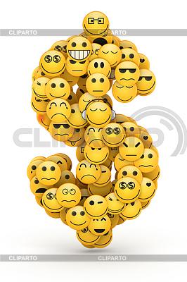 Emotikony znak dolara | Stockowa ilustracja wysokiej rozdzielczości |ID 4719498