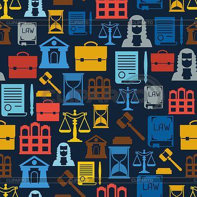 Law icons seamless pattern in flat design style | Klipart wektorowy |ID 4565073