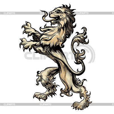 векторный клипарт лев: