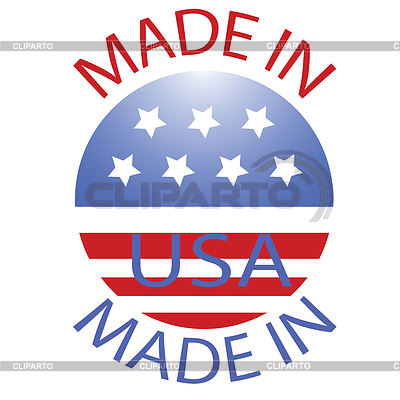 Made in USA badge | Klipart wektorowy |ID 4525325