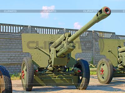 76-ZiS armata pistolet rosyjski podział | Foto stockowe wysokiej rozdzielczości |ID 4517368