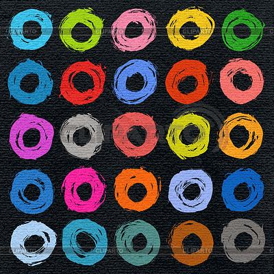 25 koło forma kolor szczotka skok | Klipart wektorowy |ID 4635048