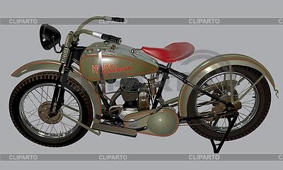 Antique motorcycle Harley-Davidson 28B | Klipart wektorowy |ID 4979576