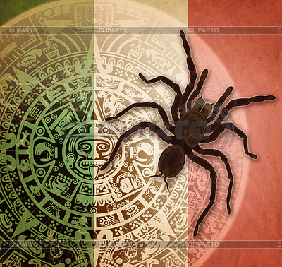 Background with Aztec calendar and tarantula | 높은 해상도 사진 |ID 4658042