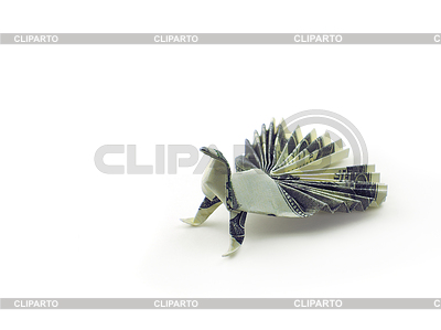Origami ptaka z sto dolarów rachunki | Foto stockowe wysokiej rozdzielczości |ID 4536769
