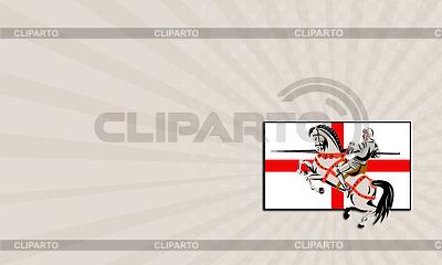 Business card English Knight Lance Horse England | Stockowa ilustracja wysokiej rozdzielczości |ID 4735553