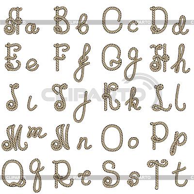 Как сделать буквы из верёвки