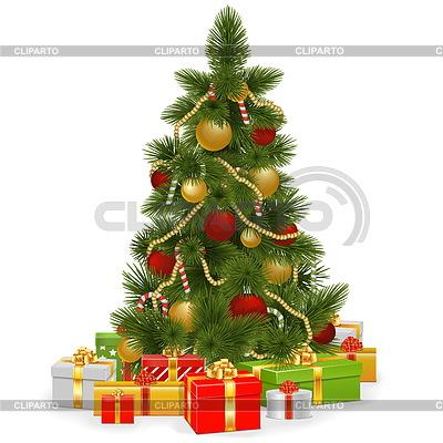 Weihnachtsbaum mit Geschenken | Stock Vektorgrafik |ID 4514719
