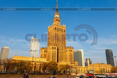 Palast der Kultur und Wissenschaft in Warschau | Foto mit hoher Auflösung |ID 4515229