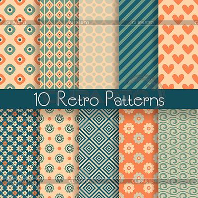 Retro abstrakte nahtlose Muster | Stock Vektorgrafik |ID 4531148