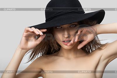 Portrait der schönen Frau in Hut | Foto mit hoher Auflösung |ID 4768659