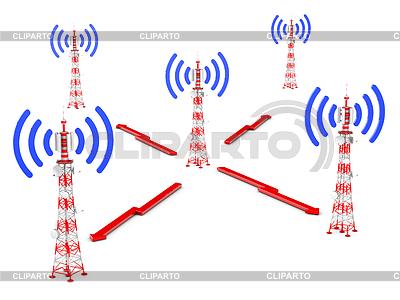 Wieże telekomunikacyjne | Stockowa ilustracja wysokiej rozdzielczości |ID 4686749