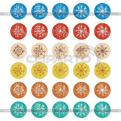 Sketch snowflakes on a white background. vector | Stockowa ilustracja wysokiej rozdzielczości |ID 4780150