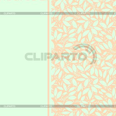 Karta z roślin otnament. pastelowych kolorów | Klipart wektorowy |ID 4805049