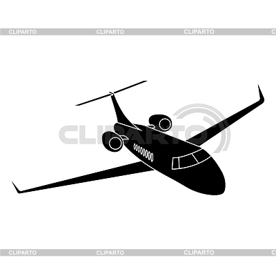 Private Jet Plane  Stock Vector Graphics  CLIPARTO