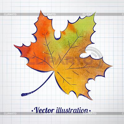Картинки осенний листок нарисованный