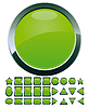 Vector clipart: 28 green buttons