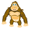 Vector clipart: Animal gorilla