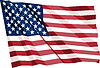 Vector clipart: Crumpled US Flag