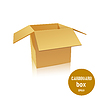 Vector clipart: open cardboard box. illustratio