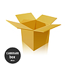 Vector clipart: Open empty cardboard box ,