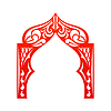 Vector clipart: Red indian Arch . Cut. Welcome! Desi