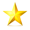 Vector clipart: Gold star with shadows. illustratio