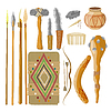 Vector clipart: Large Set Items ancient people. Objects rela