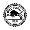 Vector clipart: Logo, label two buffalo, bull fighting. Design badg