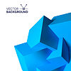 Vector clipart: Abstract background with overlapping blue cubes