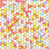 Vector clipart: Abstract background with colorful hex polygons