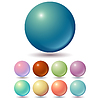 Vector clipart: Set of muted color balls
