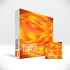 Vector clipart: 3D Identity box with abstract fire lines cover