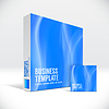 Vector clipart: 3D Identity box with abstract blue lines cover