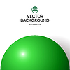 Vector clipart: Abstract minimal frame with green ball