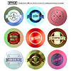 Vector clipart: Vintage premium labels set on tile structured layou