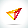 Vector clipart: Abstract pyramid logo with intersecting