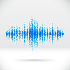 Vector clipart: Sound waveform made of scattered balls