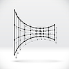 Vector clipart: Abstract 3D wireframe shape with connected structure
