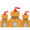 Vector clipart: Red Brick Castle