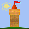 Vector clipart: Old Red Brick Castle