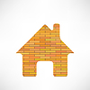 Vector clipart: Brick Home Icon